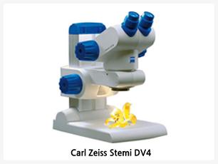 Carl Zeiss DV4, 이 현미경에 내재된 혁신적인 발전은 최고의 생산 기술의 결과인 외관의 색, 컴팩트한 디자인 및 놀라운 가격, 그 복합적인 결과가 이뤄낸 최상의 기술적 완성도입니다. 견고함, 모든 주요기능을 손쉬운 사용법, 선명한 이미지는 칼 자이스의 실체현미경이 최고임을 확신하게 합니다. 4가지 기본 모델에 zoom system이나 조정가능한 고정배율, compact stand c 및 다양한 악세사리들(예, 이미지 도큐멘테이션, 암시야 등등)을 추가하여 다양한 사용에 적합한 시스템을 구성하실 수 있습니다.
